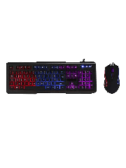 Spire Avenger Illuminated Gaming Desktop Kit, 3-Colour LED Backlit Keyboard, 1600/2400/3200 DPI Mouse
