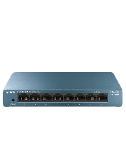 TP-Link (LS108G) 8-Port Gigabit Unmanaged Desktop LiteWave Switch, Steel Case