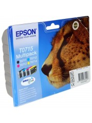 Genuine 4-Colour Epson T0715 Ink Cartridges Multipack