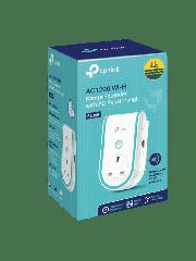 TP-Link (RE365) AC1200 (300+867) Dual Band Wall-Plug WiFi Range Extender, 10/100 LAN, AC Pass Through