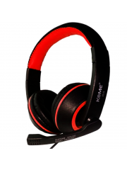 Komc Km-b6 Over-ear Bass Headphones,wired Usb Stereo Multimedia Headphones - Red