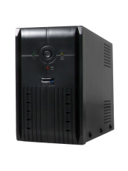 Powercool 650VA Smart UPS, 390W, LED Display, 2 x UK Plug, 2 x RJ45, USB