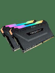Corsair Vengeance RGB Pro 16GB Memory Kit (2 x 8GB), DDR4, 2666MHz (PC4-21300), CL16, XMP 2.0, Black