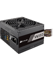 Corsair 550W Builder Series VS550 PSU, Sleeve Bearing Fan, Fully Wired, 80+ White