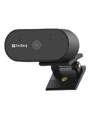 Brand New Sandberg USB FHD Wide Angle Webcam with Mic/ 2MP/ 30fps/ Glass Lens/ Auto Adjusting/ 120° Viewing Angle/ 5 Year Warranty
