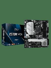 Asrock X570M PRO4, AMD X570, AM4, Micro ATX, 4 DDR4, HDMI, DP, XFire, PCIe4, RGB Lighting, M.2