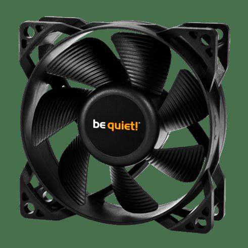 Be Quiet! BL037 Pure Wings 2 PWM 8cm Case Fan, Rifle Bearing - Black