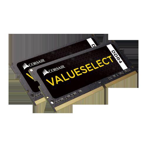 Corsair Value Select 8GB Kit (2 x 4GB), DDR4, 2133MHz (PC4-17000), CL15, SODIMM Memory